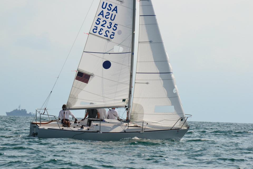 J24 and the pan am games j 24 sailing on pura vida can 4468